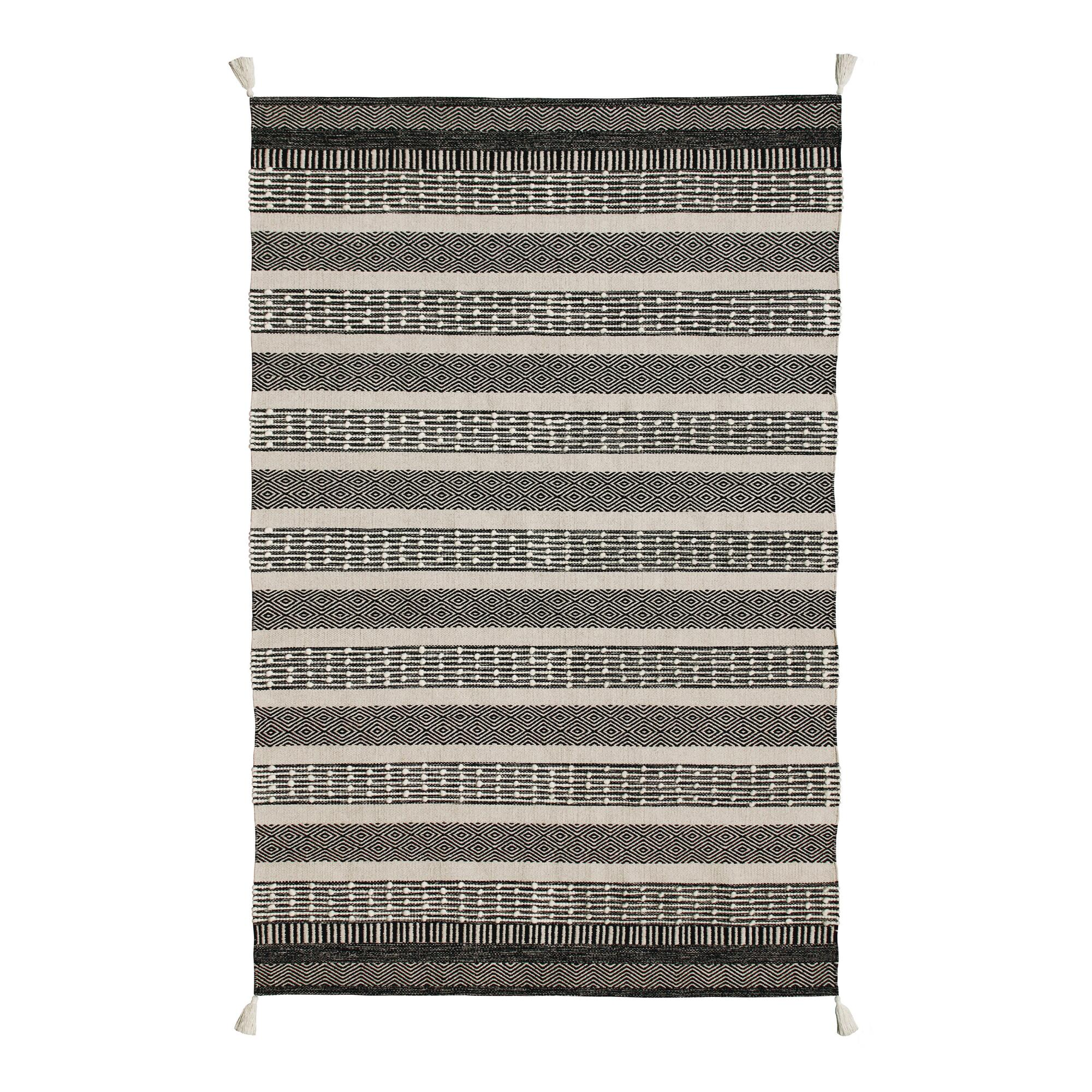 Geometric Striped Cotton And Wool Levi Area Rug World Market
