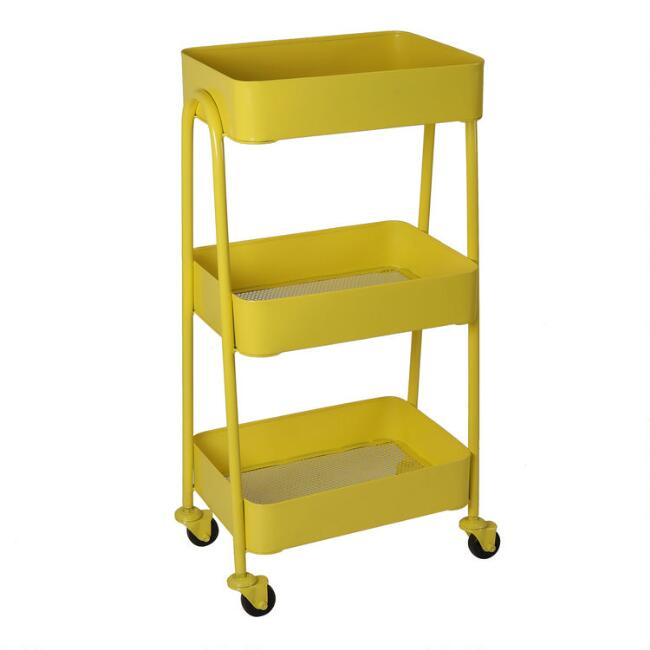 Yellow Metal Wilson Rolling Cart