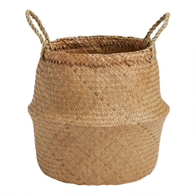 Natural Seagrass Ellery Belly Basket