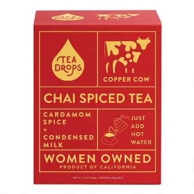 Copper Cow And Tea Drops Chai Spiced Tea 5 Pack