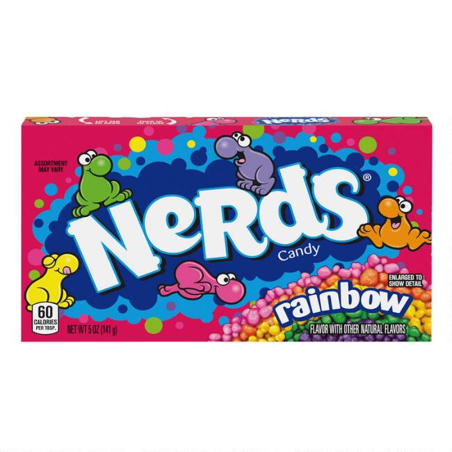 Rainbow Nerds Candy Theater Box