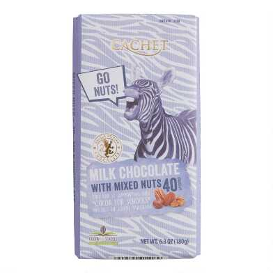 Cachet Mixed Nuts Milk Chocolate Bar