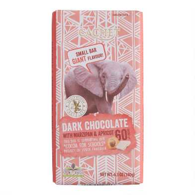 Cachet Marzipan And Apricot Dark Chocolate Bar