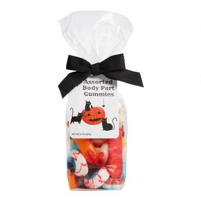 Assorted Body Parts Gummy Candy Bag