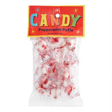 Old Fashioned Peppermint Red Bird Puffs Bag