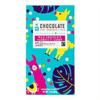 Me To We Confetti Milk Chocolate Bar Set of 4
