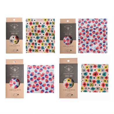 LilyBee Beeswax Reusable Snack Bags 2 Pack