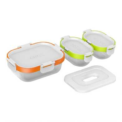 Zoku Neat Stack Nesting Food Storage Containers 7 Piece Set