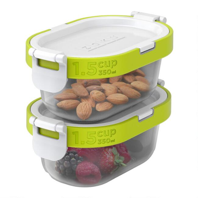 Zoku Neat Stack Snack Storage Container 4 Piece Set