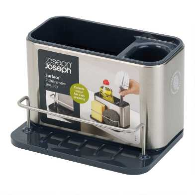 Joseph Joseph Surface Stainless Steel Sink Tidy