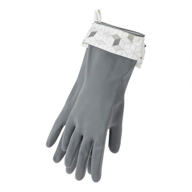 Full Circle Gray Splash Patrol Natural Latex Cleaning Gloves