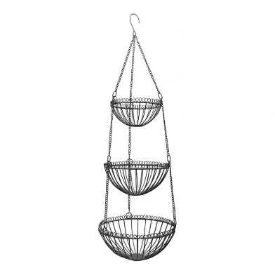 Zinc Wire 3 Tier Hanging Basket
