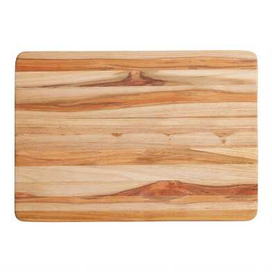 TeakHaus Edge Grain Wood Reversible Cutting Board