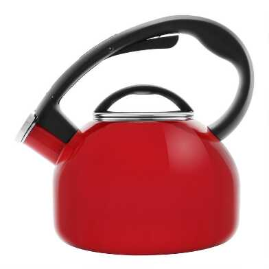 Chantal Apple Red Enamel Carbon Steel Tea Kettle