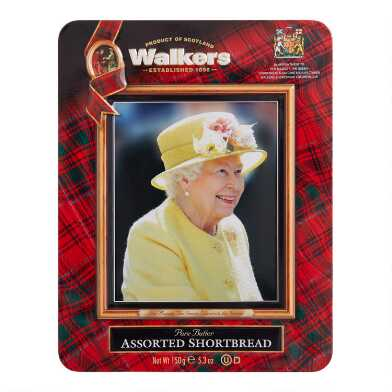 Walkers Assorted Shortbread Queen Elizabeth Tin