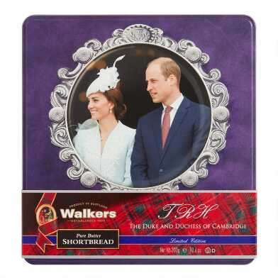 Walkers Assorted Shortbread William And Kate Tin