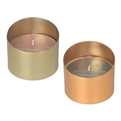 Angled Metal Eclipse Scented Candle
