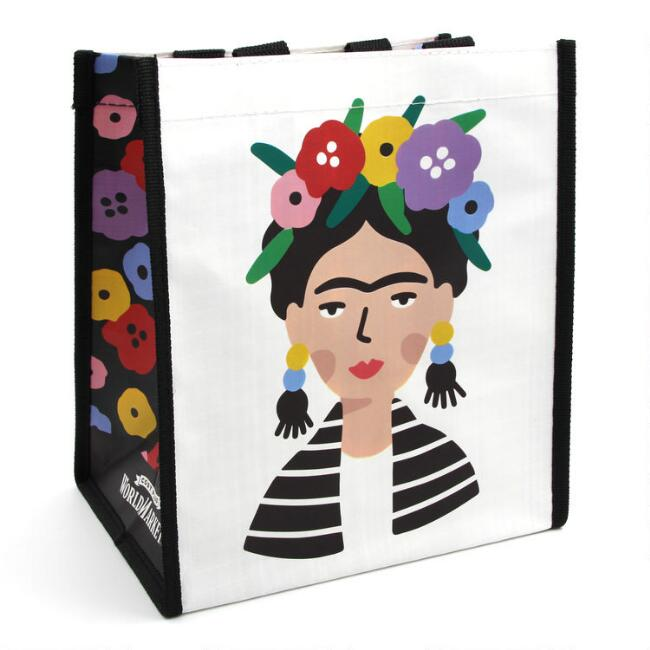 Small Floral Frida Kahlo Tote Bags Set of 3