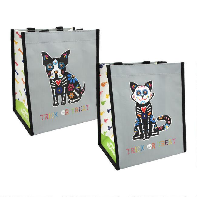 Small Halloween Pet Tote Bags Set of 4