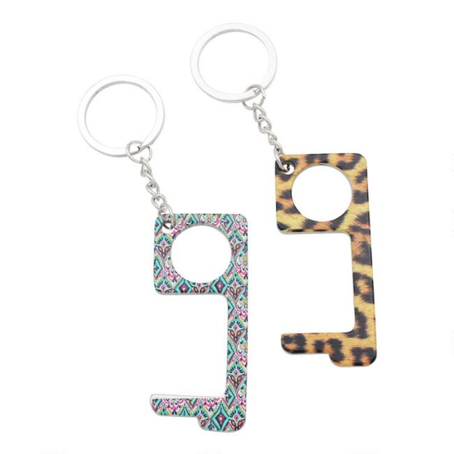Printed Metal Touch Tool Keychains Set of 2