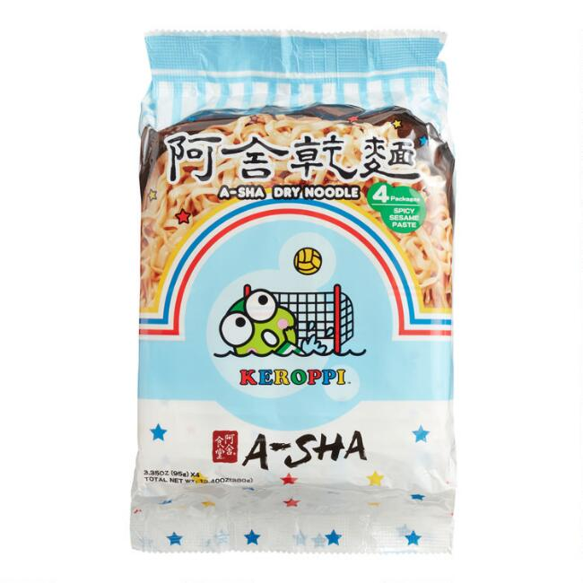 A-Sha Keroppi Spicy Sesame Paste Ramen Noodles 4 Pack
