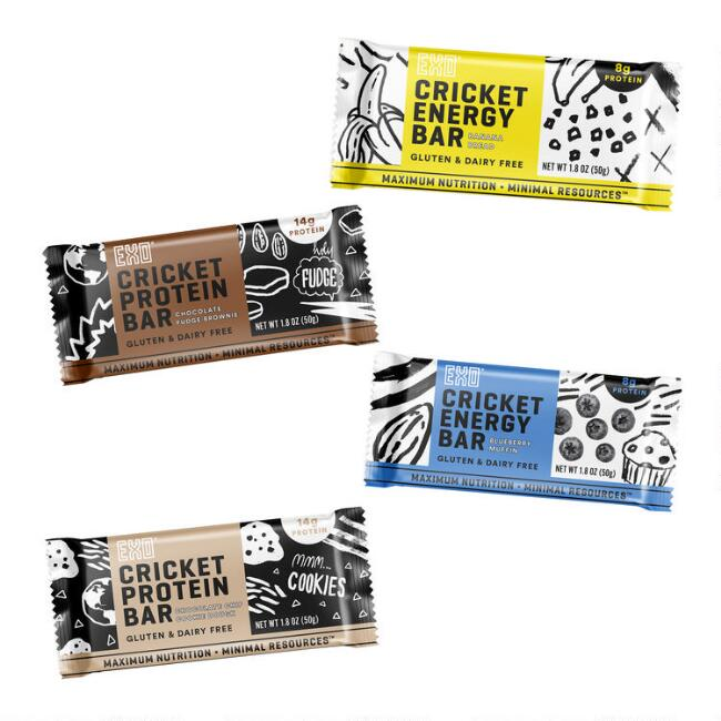 EXO Cricket Protein and Energy Bar Collection