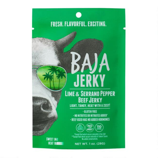 Baja Jerky Lime and Serrano Pepper Beef Jerky Snack Size