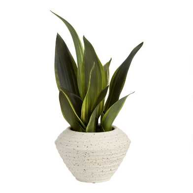 Faux Snake Plant in Speckled Pot