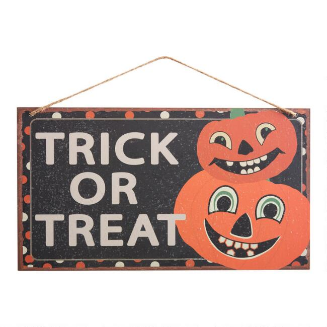 Trick or Treat Double Sided Halloween Sign