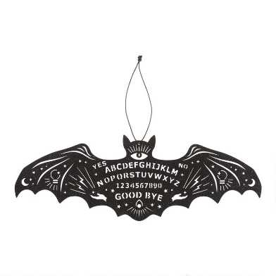Black Wood Mystic Bat Hanging Decor