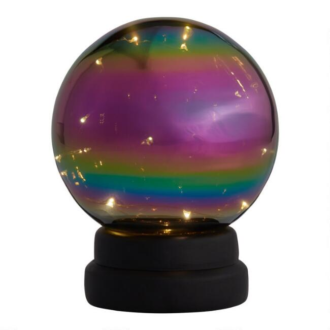 Iridescent Crystal Ball LED Light Up Decor