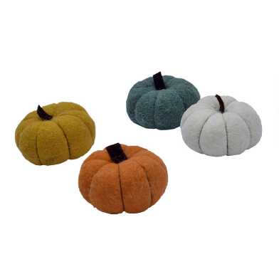 Mini Felted Wool Autumn Pumpkins Set of 4