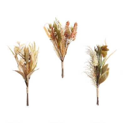 Faux Fall Grasses Bundles Set of 3