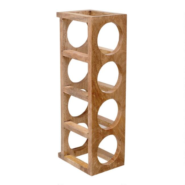 Wood 4 Bottle Vertical Wine Rack