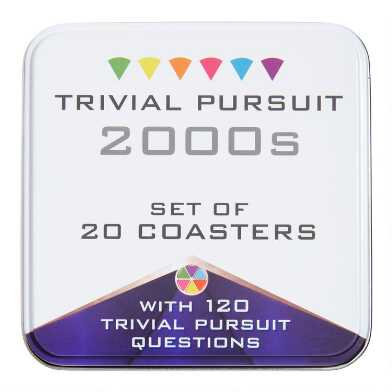 Trivial Pursuit 2000s Quiz Coasters in Tin 20 Count