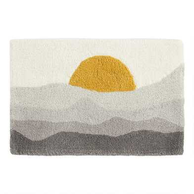 Sunset Horizon Tufted Bath Mat