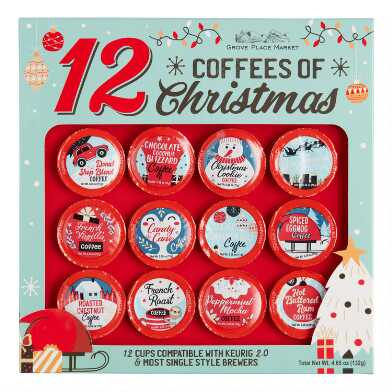 12 Coffees Of Christmas Coffee Pods 12 Count
