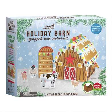 Woodland Holiday Gingerbread Barn Kit
