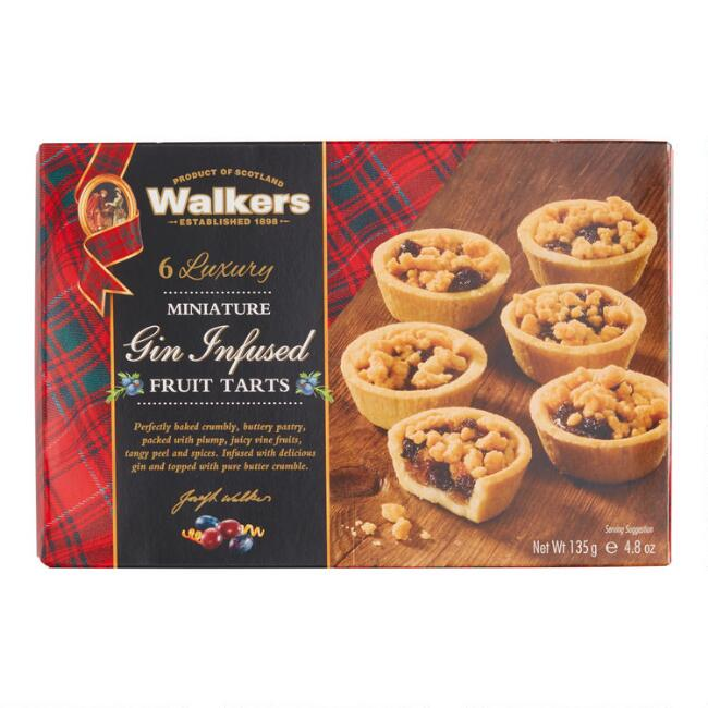 Walkers Miniature Gin Fruit Tarts 6 Count