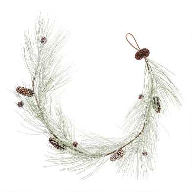 Icy Green Pine and Pinecone Garland