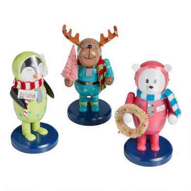 Santa's Space Patrol Animal Nutcrackers Set of 3
