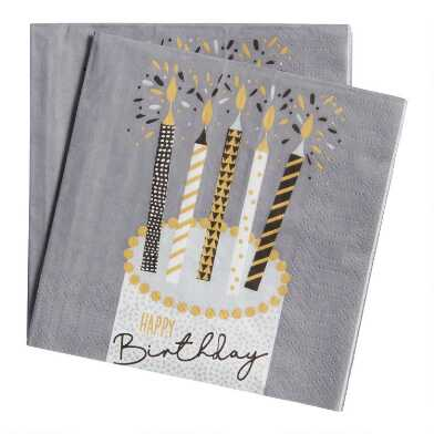 20 Count Confetti Cake Beverage Napkins Set of 2