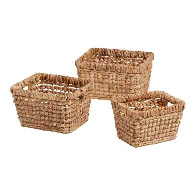 Natural Hyacinth Piper Utility Basket