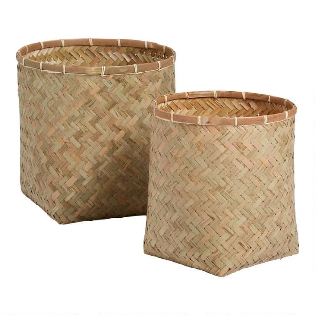 Natural Bamboo Becca Basket