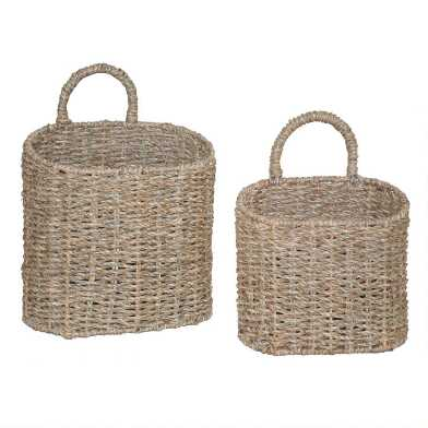 Natural Seagrass Trista Hanging Wall Basket