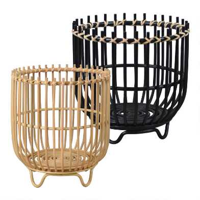 Rattan Brenna Basket With Feet