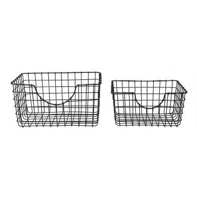 Black Wire Wilson Storage Basket
