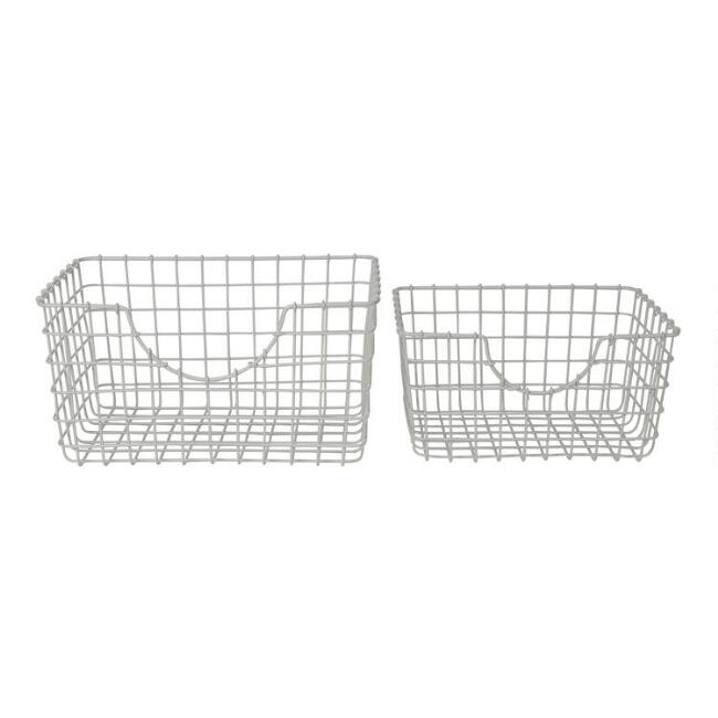 White Wire Wilson Storage Basket