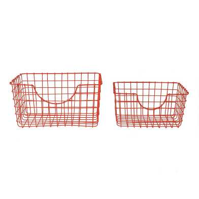Orange Wire Wilson Storage Basket