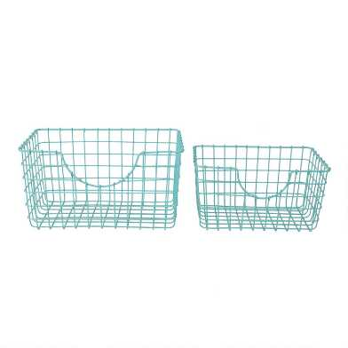 Aqua Wire Wilson Storage Basket